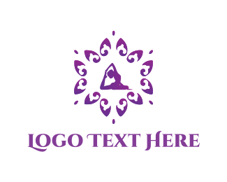 Mandala - Yoga Flower logo design