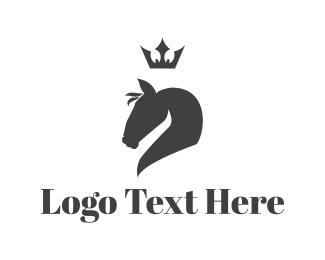 Equestrian - Royal Horse logo design