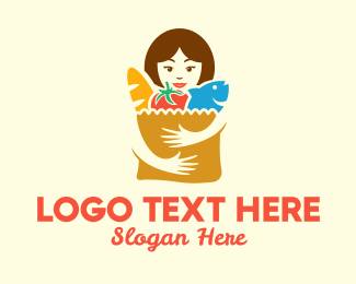 Grocery Store - Supermarket Grocery Shopper logo design