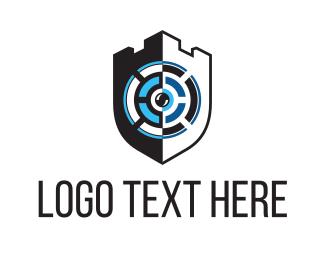 Secure - Security Camera Shield logo design