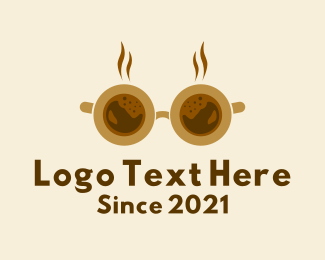 Glasses - Coffee Glasses logo design