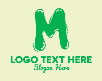 Flavored Drink - Liquid Soda Letter M logo design