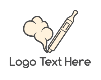 Nicotine - Smoking Vape Pen logo design