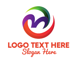 Healthy Eating - Tropical Letter M  logo design