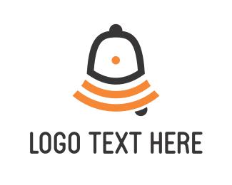 Bell - Orange Ring Bell logo design