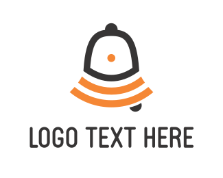 Wifi - Orange Ring Bell logo design