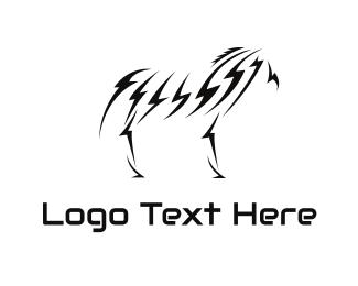 Zebra - Lightning Zebra logo design