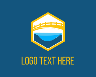 River - Yellow Bridge logo design