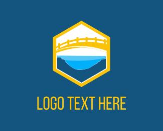 Hexagonal - Yellow Bridge logo design