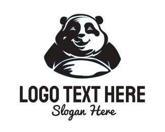 Hungry - Happy Panda logo design