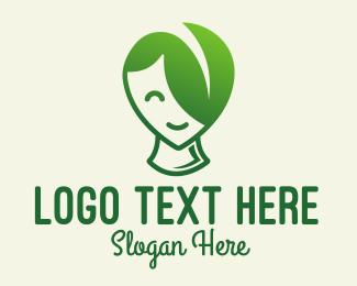 Elf - Leaf Hair Person Mascot logo design