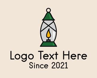 Gas - Candle Lamp Lighting logo design