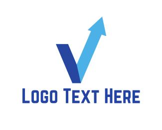 Trade - Blue Arrow logo design