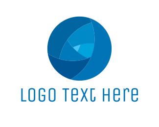 Blue Globe - Tech Blue Circle logo design