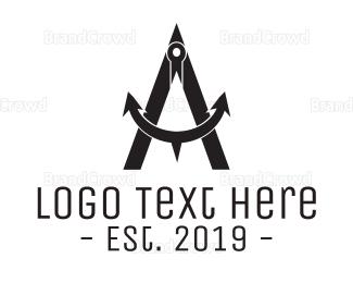 Sailing - Anchor Compass logo design