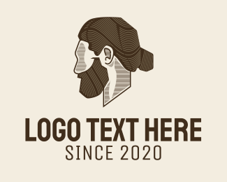 Model - Man Bun Barbershop logo design