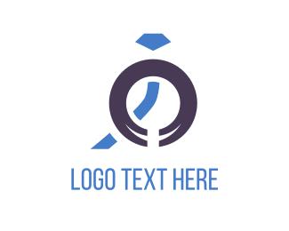 Engagement - Blue Jewelry logo design