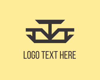 Letter T - Abstract Arrows logo design
