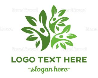 Organic Food - Tree Trio logo design