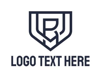 R - Minimalist Shield Letter V & R logo design