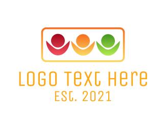 Children - Children Traffic Light logo design