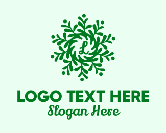 Sustainable - Growing Plant Lettermark  logo design