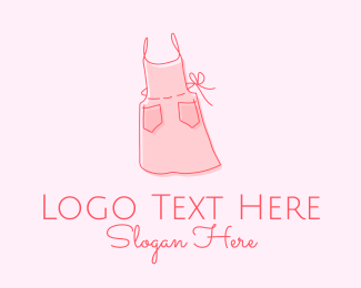 Seamstress - Dressmaker Apron logo design