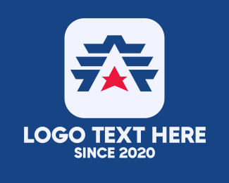 Super - Star Triangle Wings logo design