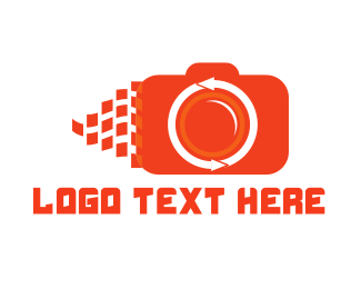 Video Camera - Orange Camera logo design