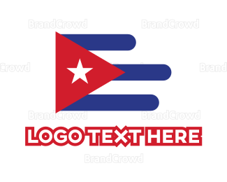 Air Travel - Modern Cuba Flag logo design