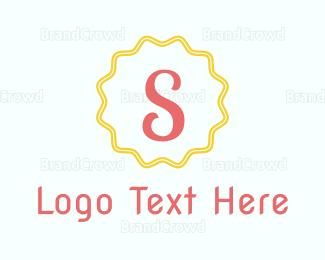 Exclamation Mark - Letter S Stamp logo design