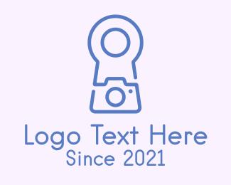 Keyhole - Minimalist Keyhole Camera logo design