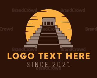 Archeology - Mexican Pyramid logo design