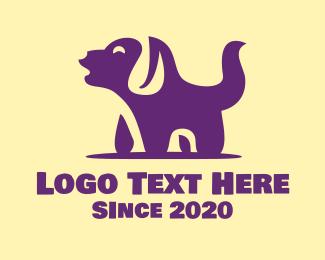 Dog Face - Barking Pet Dog logo design