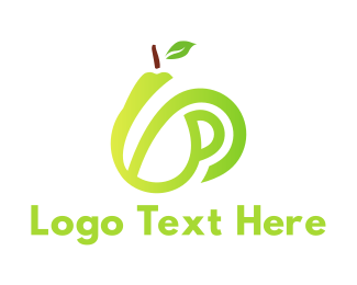 Pear - Gradient Pear Mug logo design