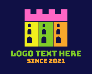 Fort - Castle Building Fort logo design
