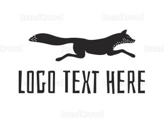 Jump - Black Fox logo design