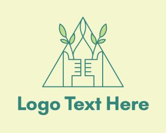 Thumb - Eco Friendly Thumbs Up logo design