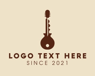 Key - Guitar Key logo design