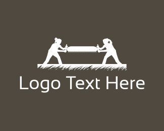 Carpentry - Wood Saw logo design