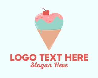 Ice Cream Shop - Heart Ice Cream  logo design