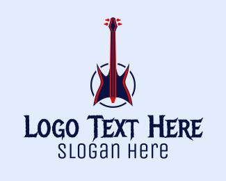 Metal - Heavy Metal Guitar logo design