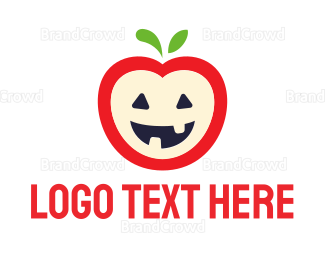 Kids - Halloween Apple logo design
