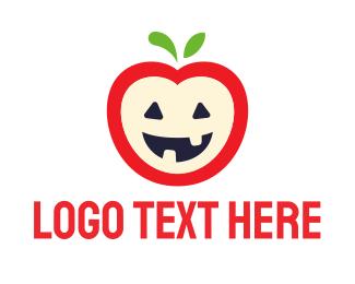 Apple - Halloween Apple logo design