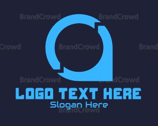 Orange And Gray - Tech Point logo design