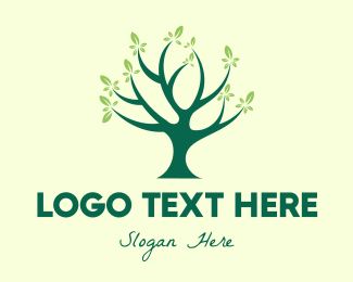 Nature Conservation - Green Natural Tree logo design
