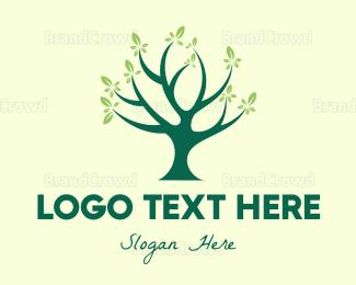 Respirology - Blue Tree logo design