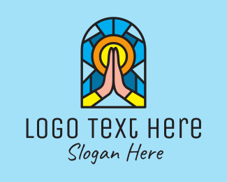 Risen - Church Pray Mosaic  logo design