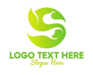 Product - Green Vine Letter S logo design