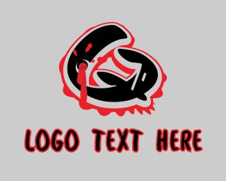 Bullet Hole - Splatter Graffiti Letter Q logo design